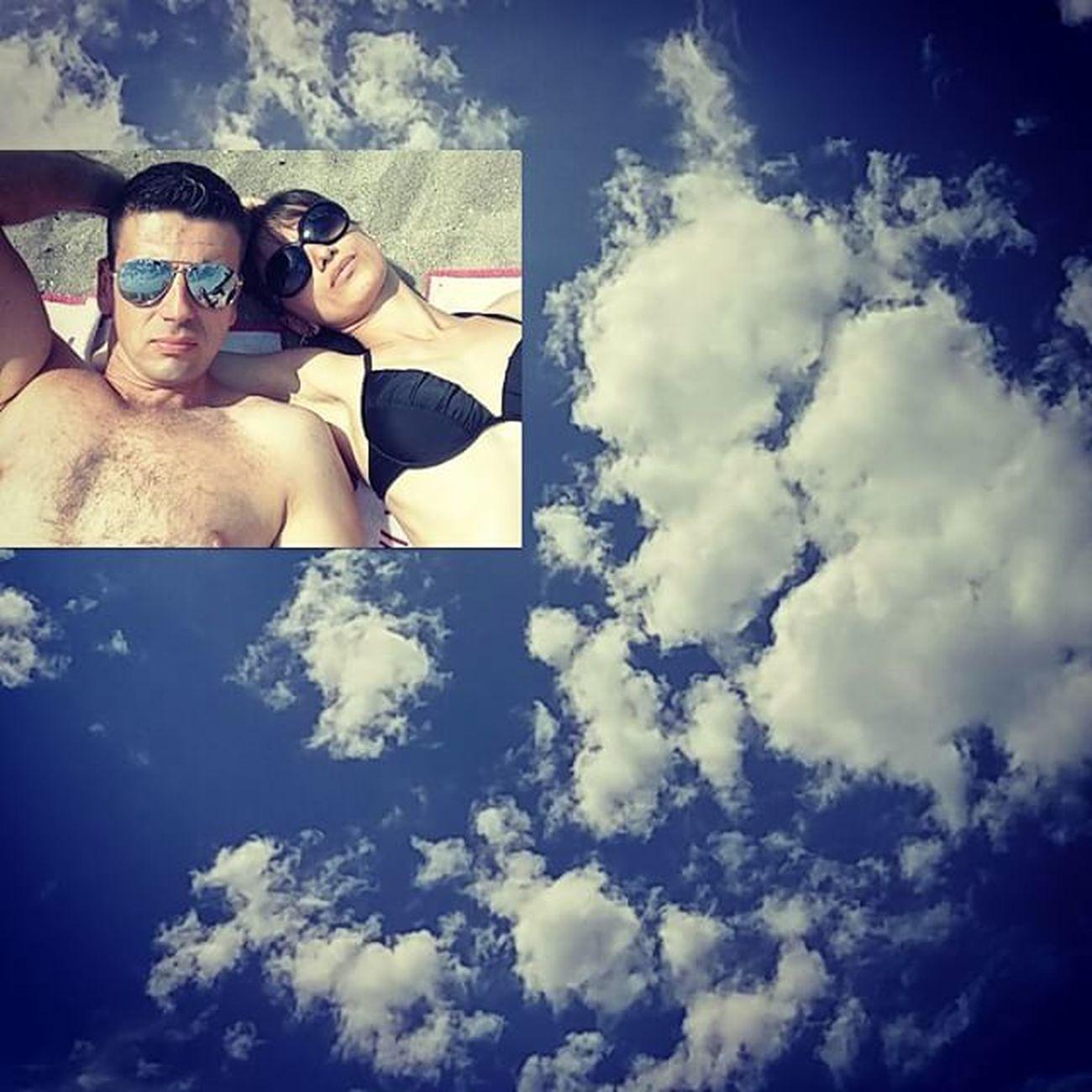 Nasedmomnebu Justthetwoofus and the Sky Clouds over vancouver englishbay on sunnyday selfie selfiestick vancitybuzz vancity