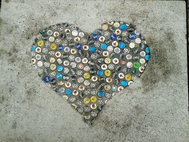 Streetart Taking Photos Heart ❤ Beercaps Kopenhavn The Following
