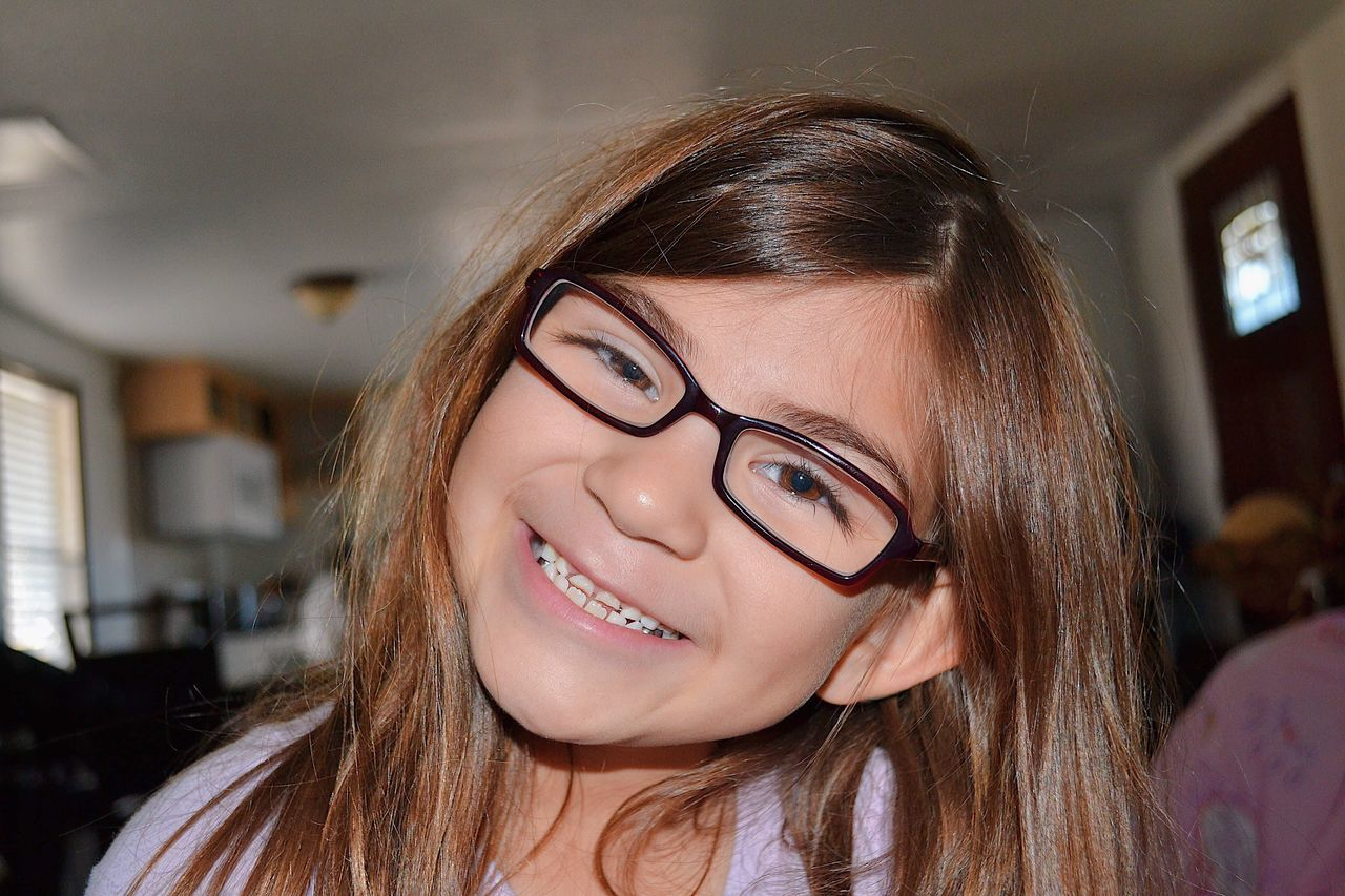 Just smile (: Headshot Close-up One Person Eyeglasses  Beauty Indoors  Young Adult Day Portrait Photography Photo Photographer Cousins ❤ Little Girl First Eyeem Photo