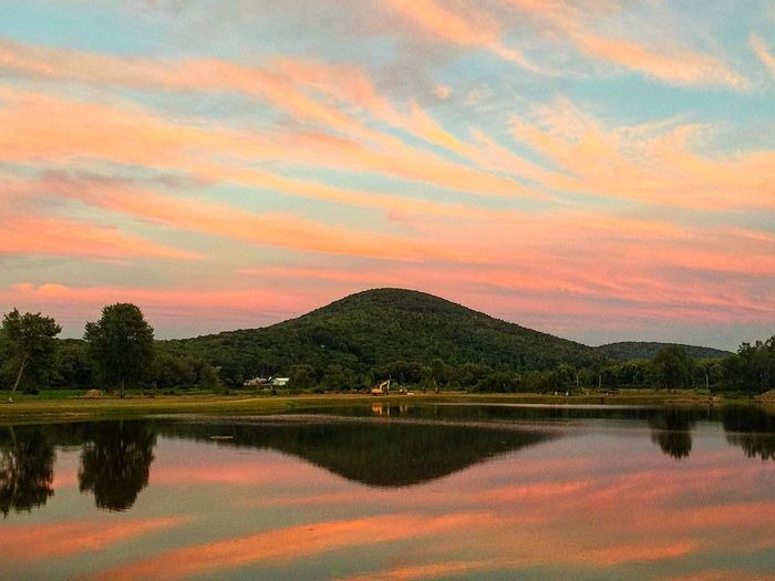 Photooftheday Allegany Mountains Vacation Vacation2016 Landscape Mountains Sky Sky And Clouds Skyporn Clouds Sunset Landscape_photography IPhoneography Iphonephotography Mystic Water Resort Reflection Lake Lake View Showcase July