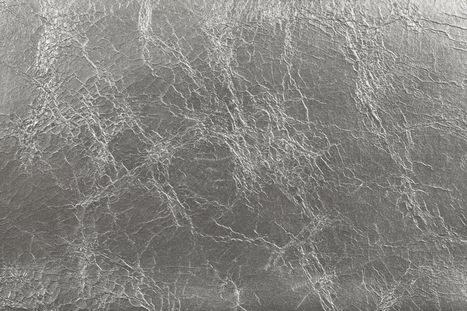 Silver colored leather background Background Close Up Faux Leather Leather No People Silver Color Texture Wrinkles