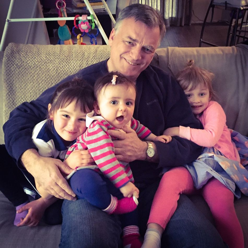 Me with my three littlest buddies ❤️❤️❤️ Gramps Grandfather Love Grandfather Granddaughters Granddaughter Family Family❤ Family Love  IPhoneography