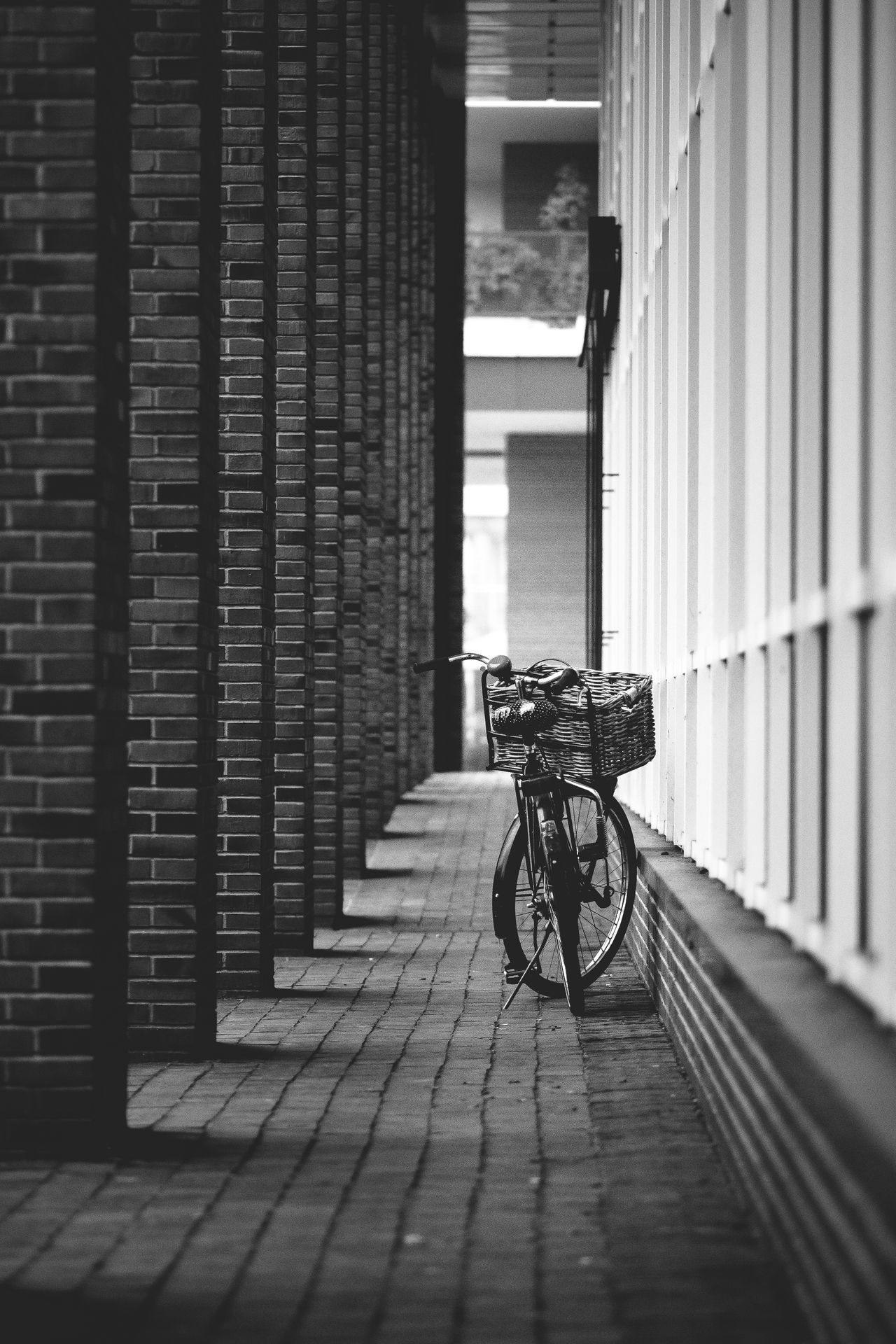 simple bike Architecture Bicycle Blackandwhite Built Structure Day Land Vehicle Mode Of Transport Monochrome No People Outdoors Stationary Transportation