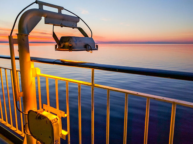 The Great Outdoors With Adobe Cruise Ship Sea And Sky Lamp Tallink Sunset