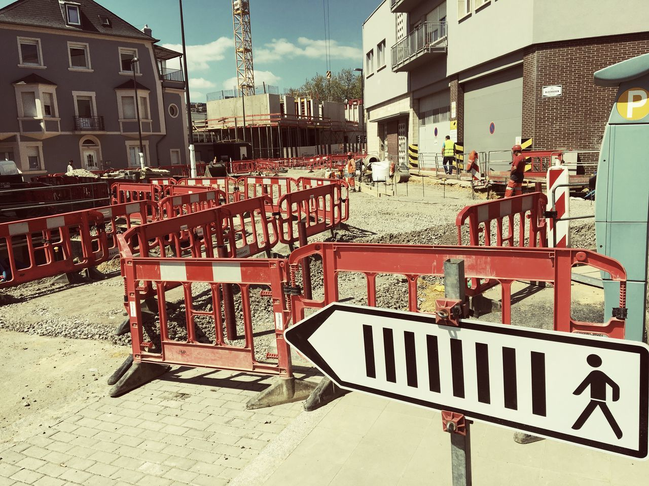 City under reconstruction. Day Outdoors No People Luxembourg Luxembourgcity Luxembourg_Collection Luxembourg Streetphotography Neighborhood Map