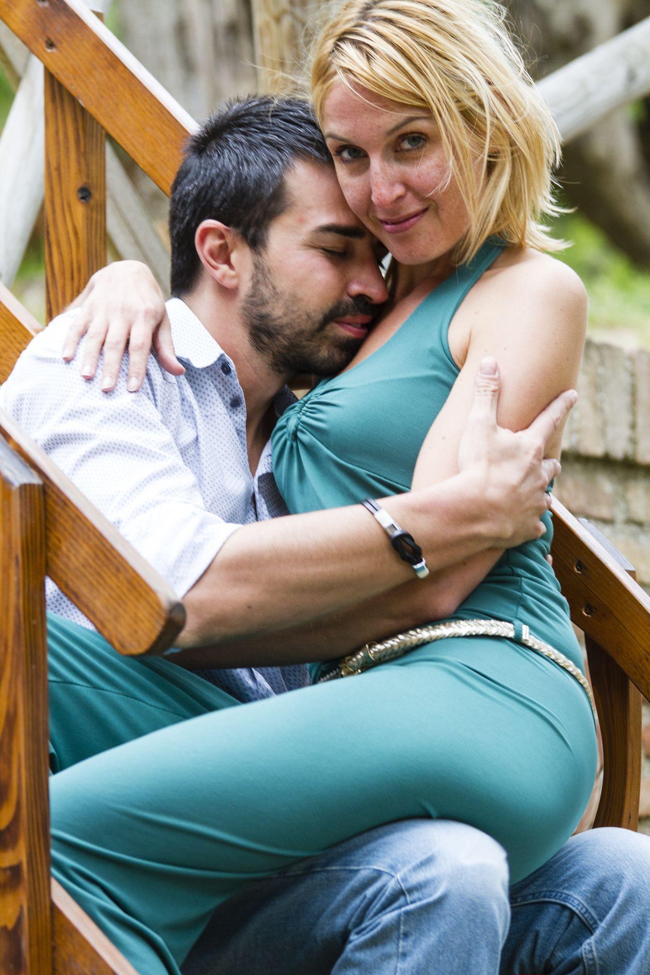 Beautiful stock photos of romantic, Arm Around, Black Hair, Blond Hair, Bonding