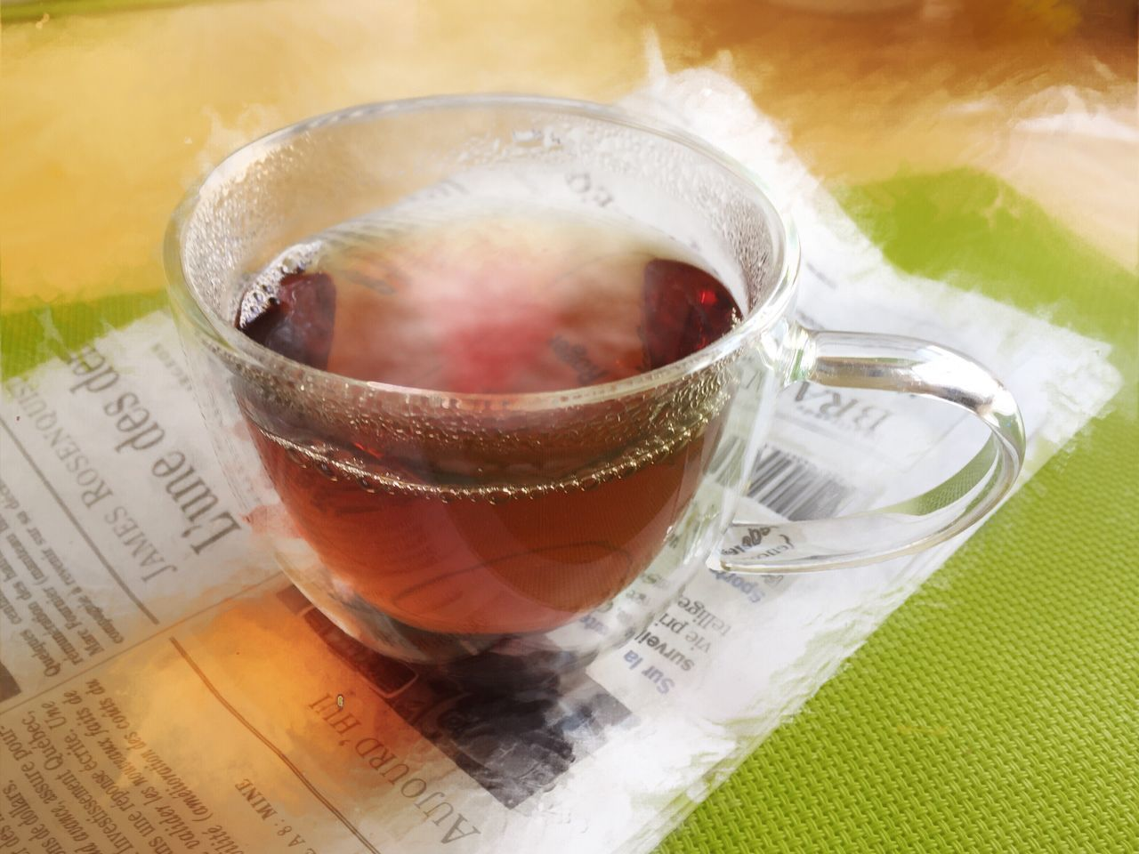 Food And Drink Drink Tea - Hot Drink Close-up Drinking Glass Table Tea Cup No People Newspaper Hot Tea And Newspaper Have A Cup Of Tea Cosy Afternoon Relaxing Moments Morning Newspaper Breakfast Tea See Through Hot Beverage Nice Moments