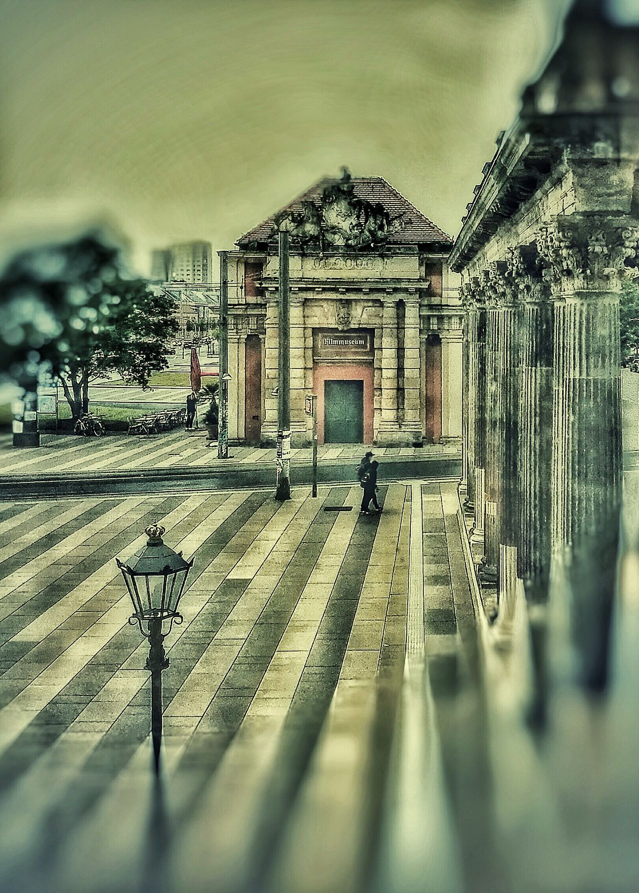 Szene in Potsdam Colour Of Life Personal Perspective Home Sweet Home Historical Buildings Home Is Where The Art Is Atmospheric Mood Cloudy Day Raining Day Colonnade Filmmuseum Marstall Baroque Architecture Alter Markt Lustgarten Tramway Silhouette Lines And Shapes Idyllic Atmospheric