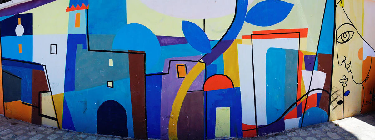 Colour Of Life Clorful Streetphotography Street Art Panorama Traveling Mahdia Tunisia Painting NX2000