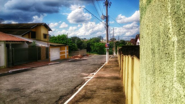 Hanging Out No People Street View Sidewalk Asphalt Blue Sky Simple Photography HDR City Life Small Town Agudos-sp Brazil