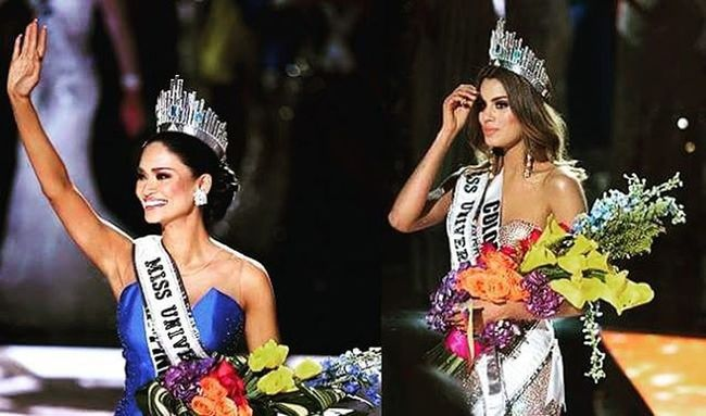 My open letter to the two beauty queens... To Ms. Colombia, Ariadna Gutierrez... I know it hurts like hell. The crown was right there at the palm of your hand but in split second, was taken away. You may not understand why it has to happen but believe me, this experience will make you a better person. I'm sure this one moment will not define you, but it's how you stand up in each downfall. Viva Colombia! To my Kababayan, my Queen, Ms. Philippines, Pia Wurtzbach, no doubt, you deserve the crown not only because of how you carried yourself in the competition but because of those candid and unknown moments that showed how truly beautiful you are. Let me name a few. You showed resilience. You did not give up on your dream and you didn't care joining Bb. Pilipinas 4 times just to get to where you are right now. You showed humility. When the crown was taken from Ms. Colombia, you just waited for instructions to go in front and didn't attempt to steal the spotlight. Never was there a time where you showed arrogance. You showed selflessness. When you saw Ms. Colombia crying, you approached her and attempted to give the crown back to her, until a staff stopped you. That only shows how beautiful your heart is. Having those said, I think it is clear why you became the Universe's Queen... Mighty proud of you @piawurtzbach Msuniverse2015 Piawurtzbach AriadnaGutierrez MsPhilippines MsColombia ❤👑
