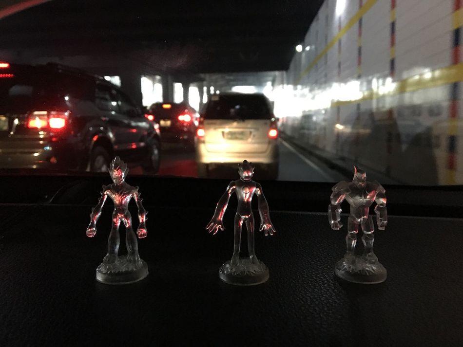 Japanese cartoon robot toys Toys Toysphotography Toy Photography Toys On Car Japanese Culture Japanese Cartoons Japanese Robots Japanese  Power Rangers Ultraman Super Hero On Board A Cab Taxi Ride Traffic Jam