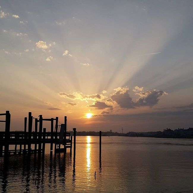 Tonight at the Oceanic Fishing Pier.... Oceancitycool OceanCity Maryland Ocmd Loveoc Tourworco Sunset