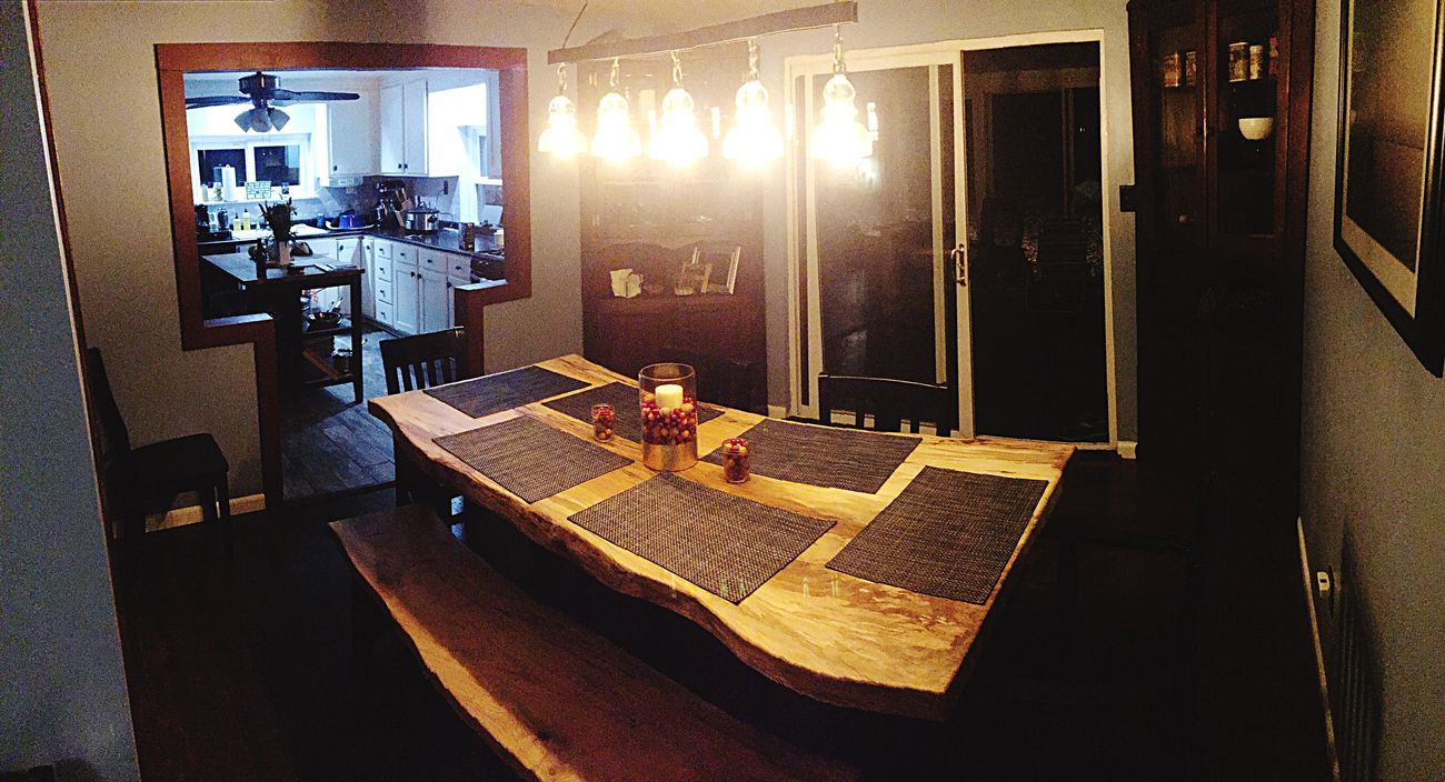Never mind the not finished kitchen.. This will be the scene for thanksgiving on Thursday.. Here we go Panorama Photography House Diningroom