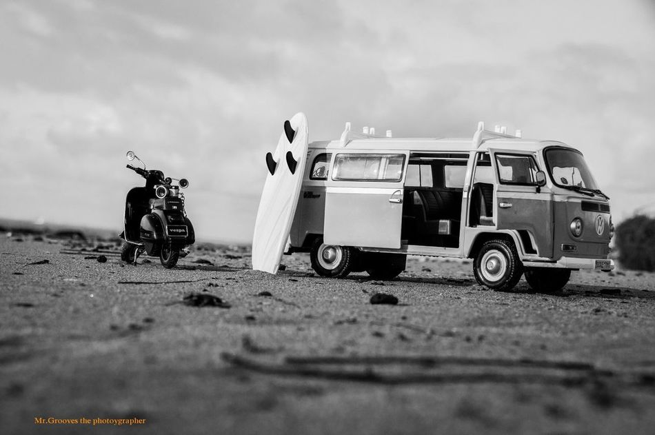 Toyphotography Volkswagenbus Vespa Blackandwhite Photography Surf's Up