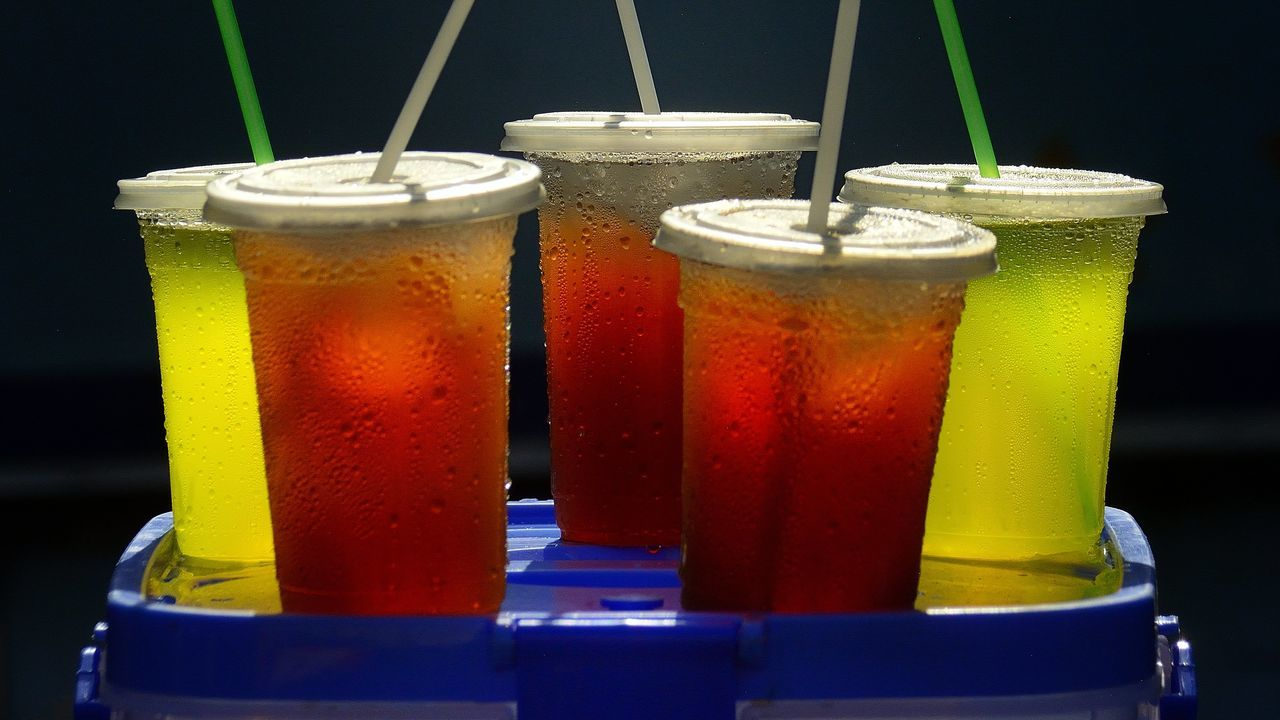 Close-Up Of Cold Drinks