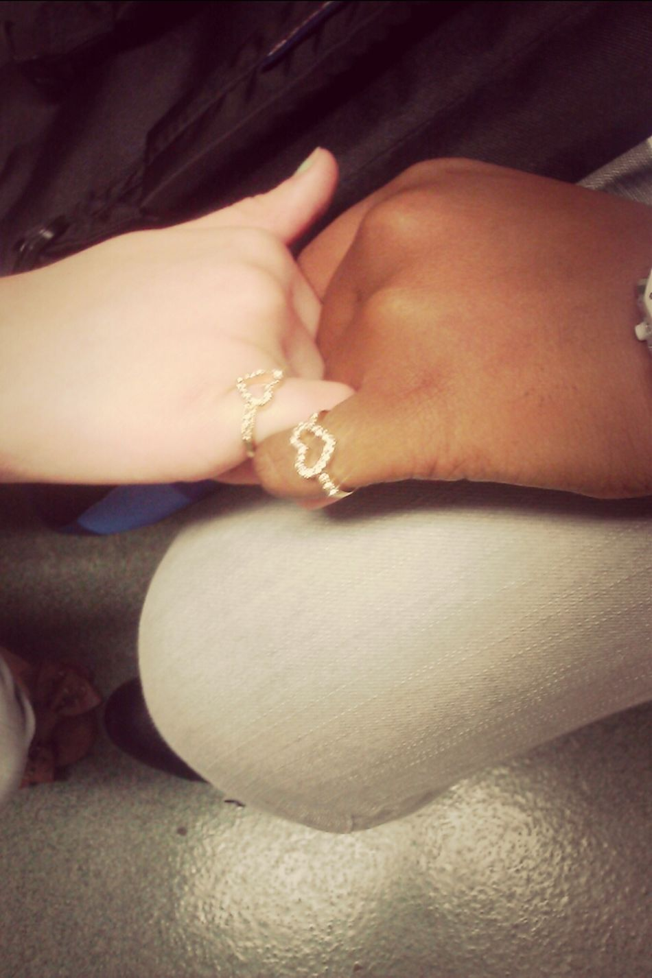 Me And My Bestfriend Pebbles Promise Rings (: