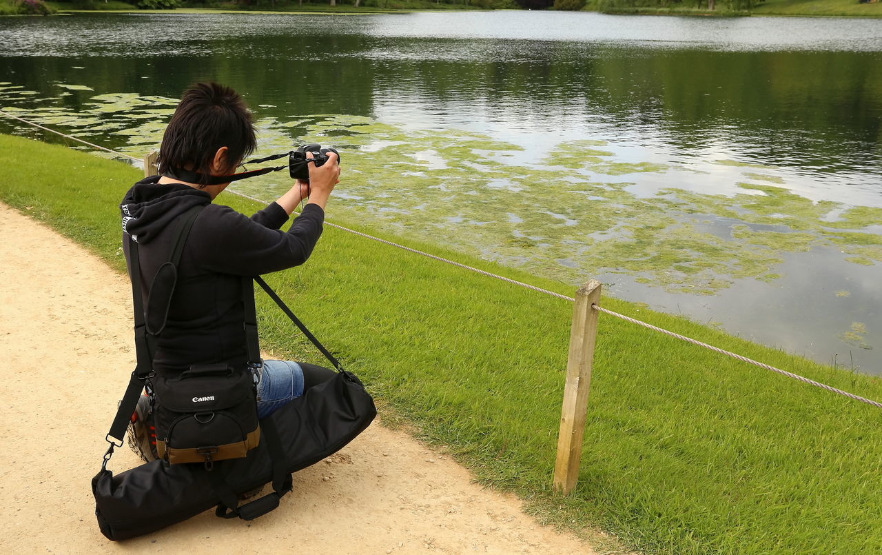 Amateur Photography Camera Equipment Hobby Holding In Work It's Me! Lake Lakeshore Middle Aged Passion Taking Photos Water Woman