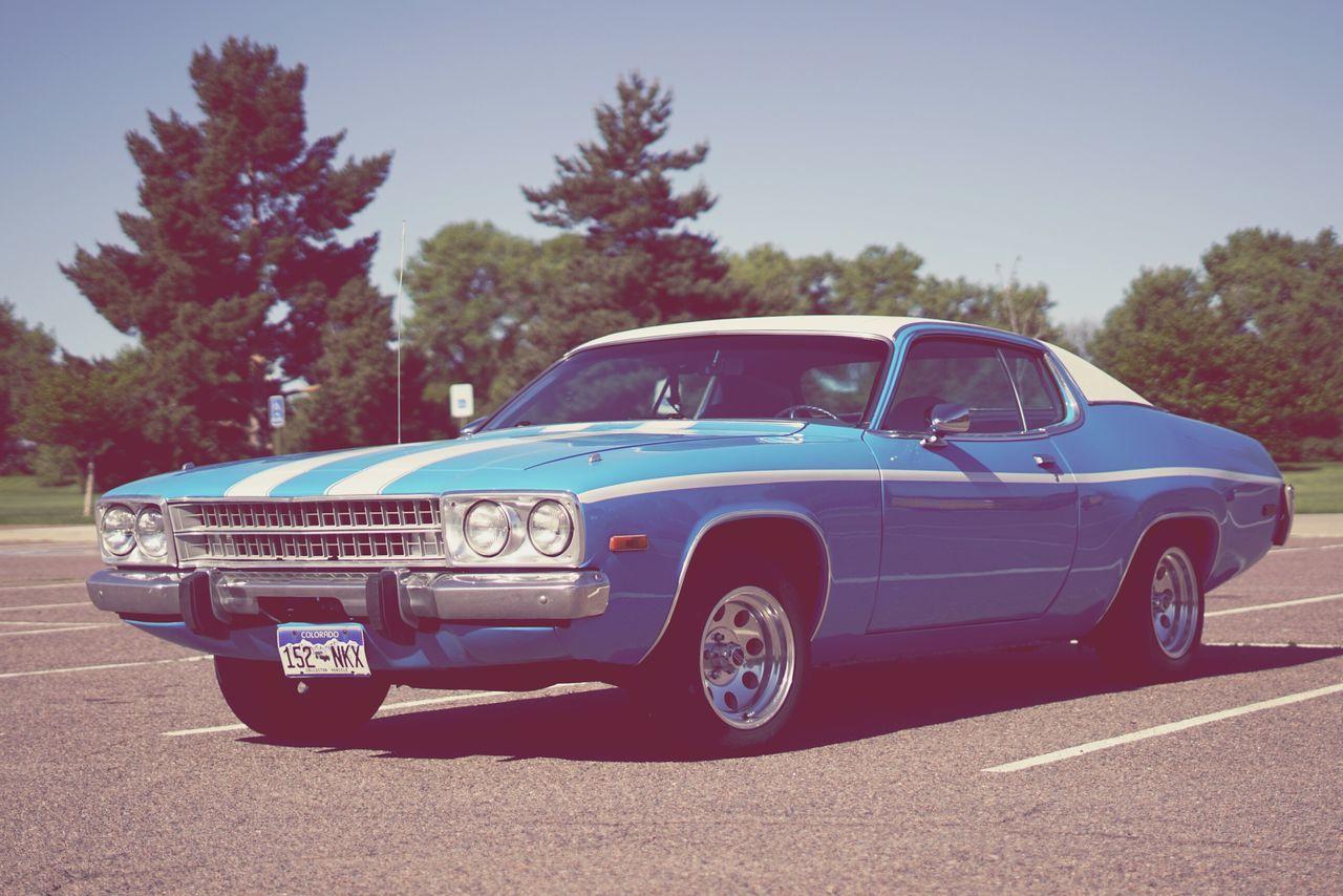 Old Stule Classic Car Blue