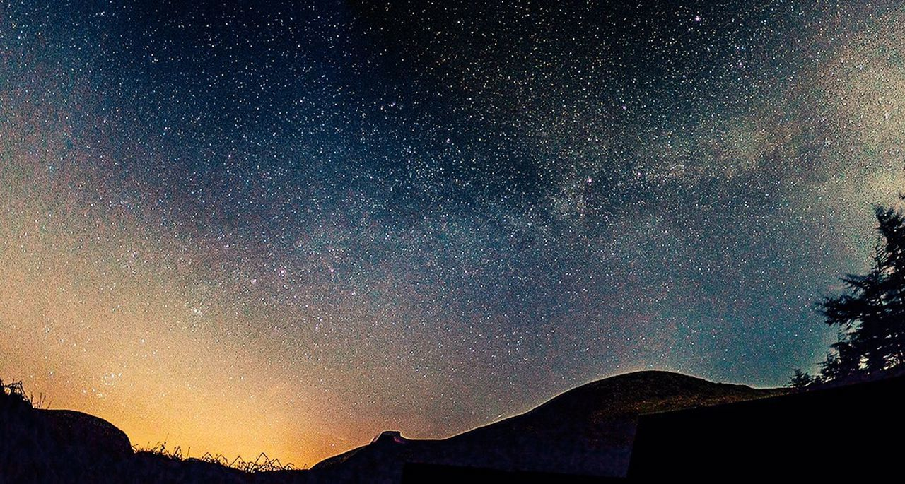 Milky Way Astrophotography Stars Clouds And Sky Mountains Night Northern Ireland DiscoverNI Hiking Camping