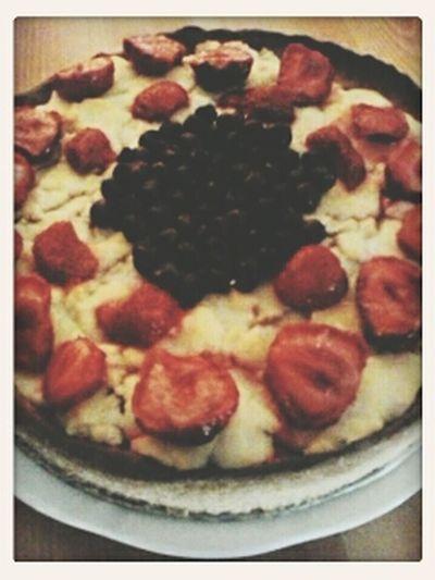Tarta Z Owocami Jedzenie Ciasto