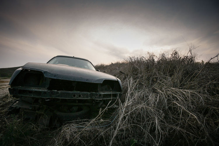 Abandoned Car Citroen Cx Break Cloud - Sky Day Field Grass Grassy Land Vehicle Landscape Mode Of Transport Nature No People Outdoors Patina Rural Scene Sky Transportation Youngtimer The Great Outdoors - 2016 EyeEm Awards MeinAutomoment