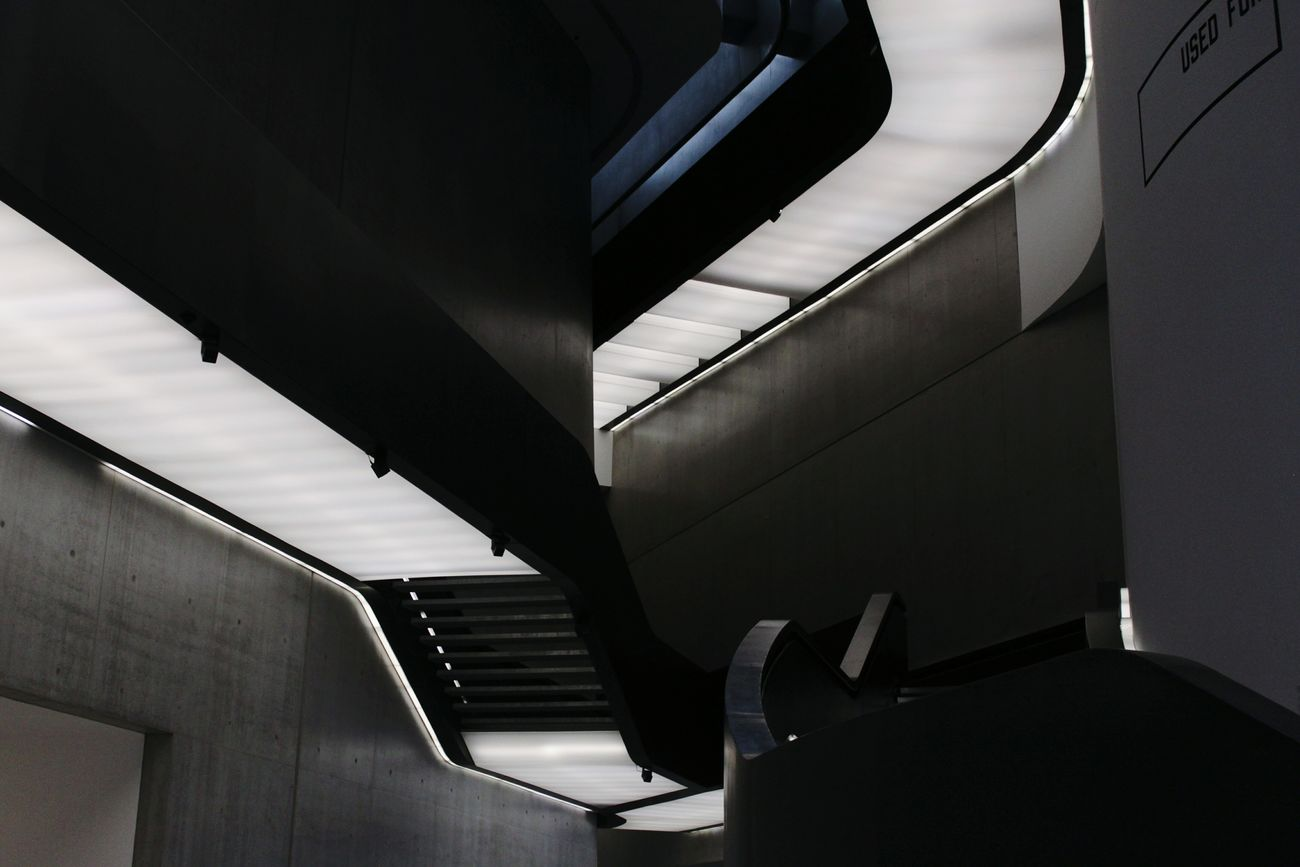 Maxxi Museum MAXXI Museum Rome Italy MAXXI Roma MAXXI Light And Shadow Rome Indoors  No People Low Angle View Architecture Built Structure