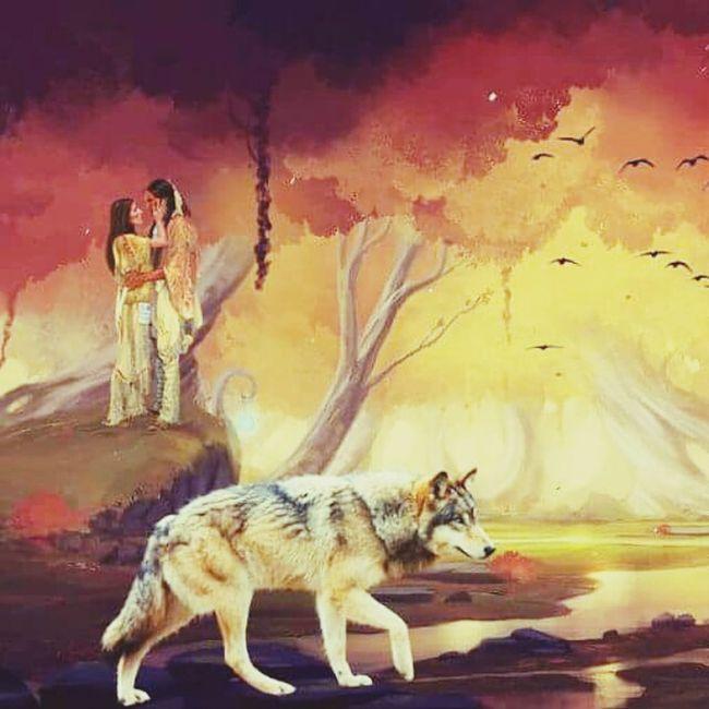 Injun Walking Wolf Birds Fantastic Love ♥ Trees