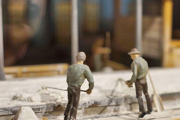 Miniatures on display. Beautiful Architecture and Design . under the AlteSaline OldSaltWorks SaltRefinery . Salz Salt Museum . Badreichenhall Bavaria Bayern Deutschland Germany . Taken by my Sonyalpha DSLR Dslt A57 . متحف ملح بايرن المانيا