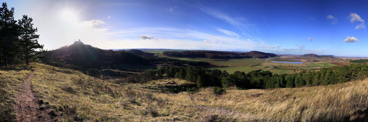 Drei Gleichen Blick Cloud - Sky Drei Gleichen Horizon Over Land Idyllic Landscape Nature No People Outdoors Panoramic View Sky Thuringia