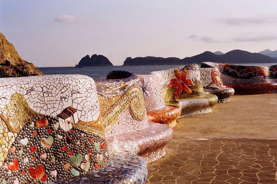 Oedo Botania Islands Sea And Sky Breakwater Breakwall Seawalls Minolta Alpha9000 Colorful
