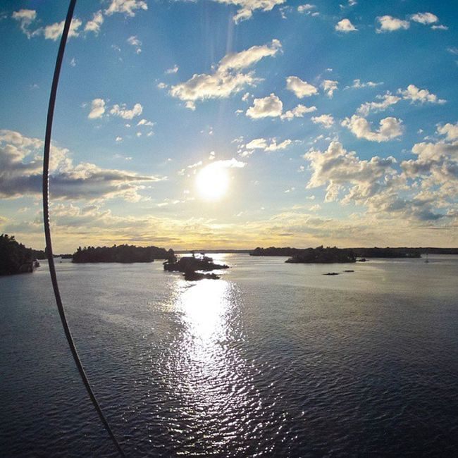 Sunrise over the 1000islands outside Brockville . Photo from the Masthead . sailing igersottawa
