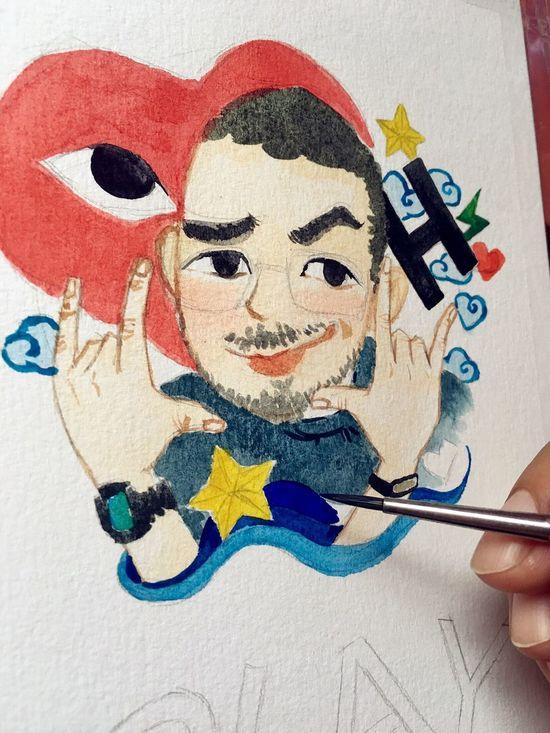 Watercolor Painting Watercolor Design Cartoon Sophiesart