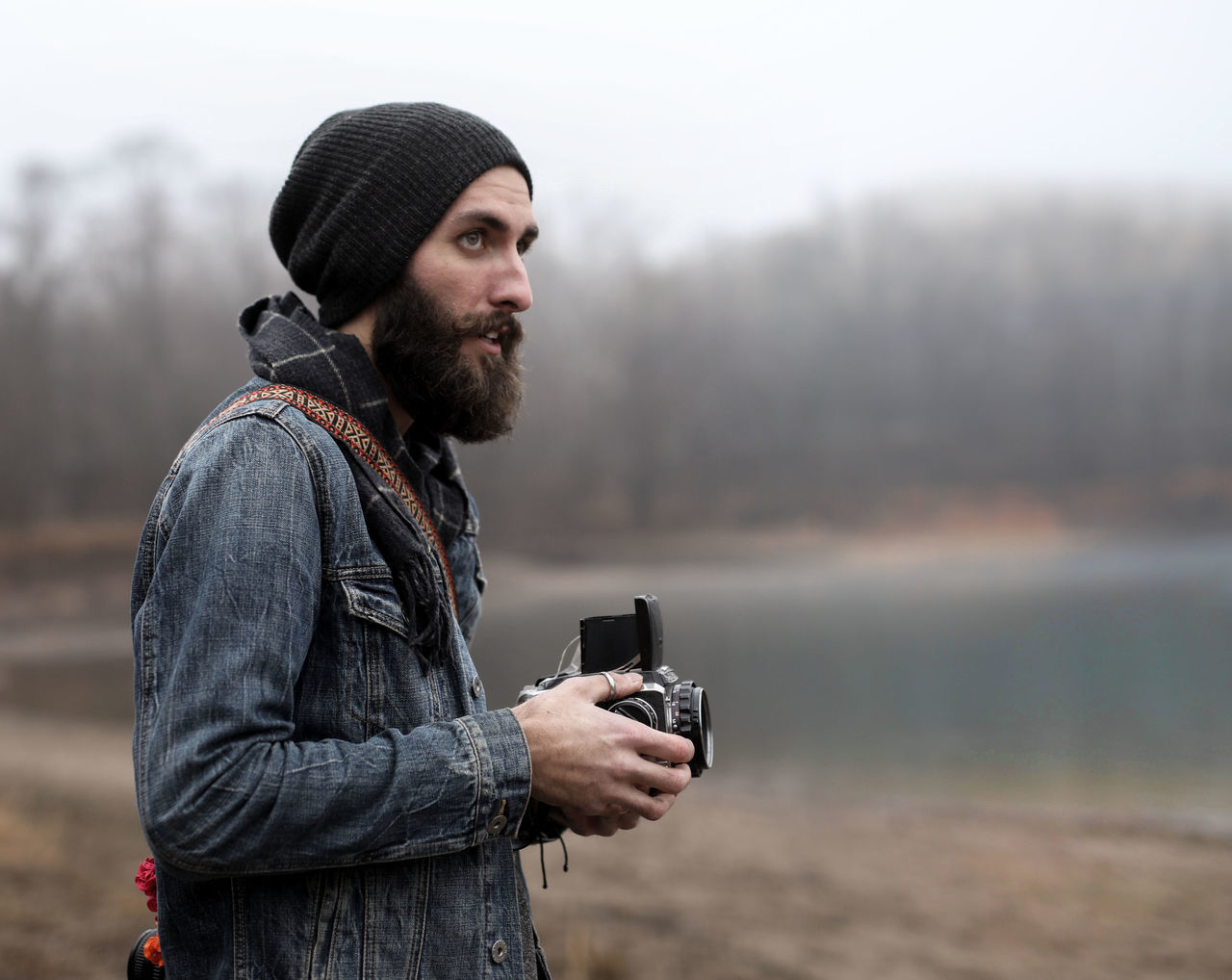 Adult Adults Only Arts Culture And Entertainment Beard Beautiful People Facial Hair Hipster - Person Holding Knit Hat Lifestyles Males  Men Nature One Man Only One Person One Young Man Only Only Men Outdoors People Portrait Sea Warm Clothing Water Young Adult Young Men