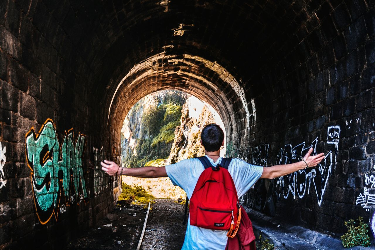 🌀 Its MeTunnel One Person Standing People Real People Outdoors Adults Only Only Men Day Hanging Out Taking Photo Porto Streetphotografy