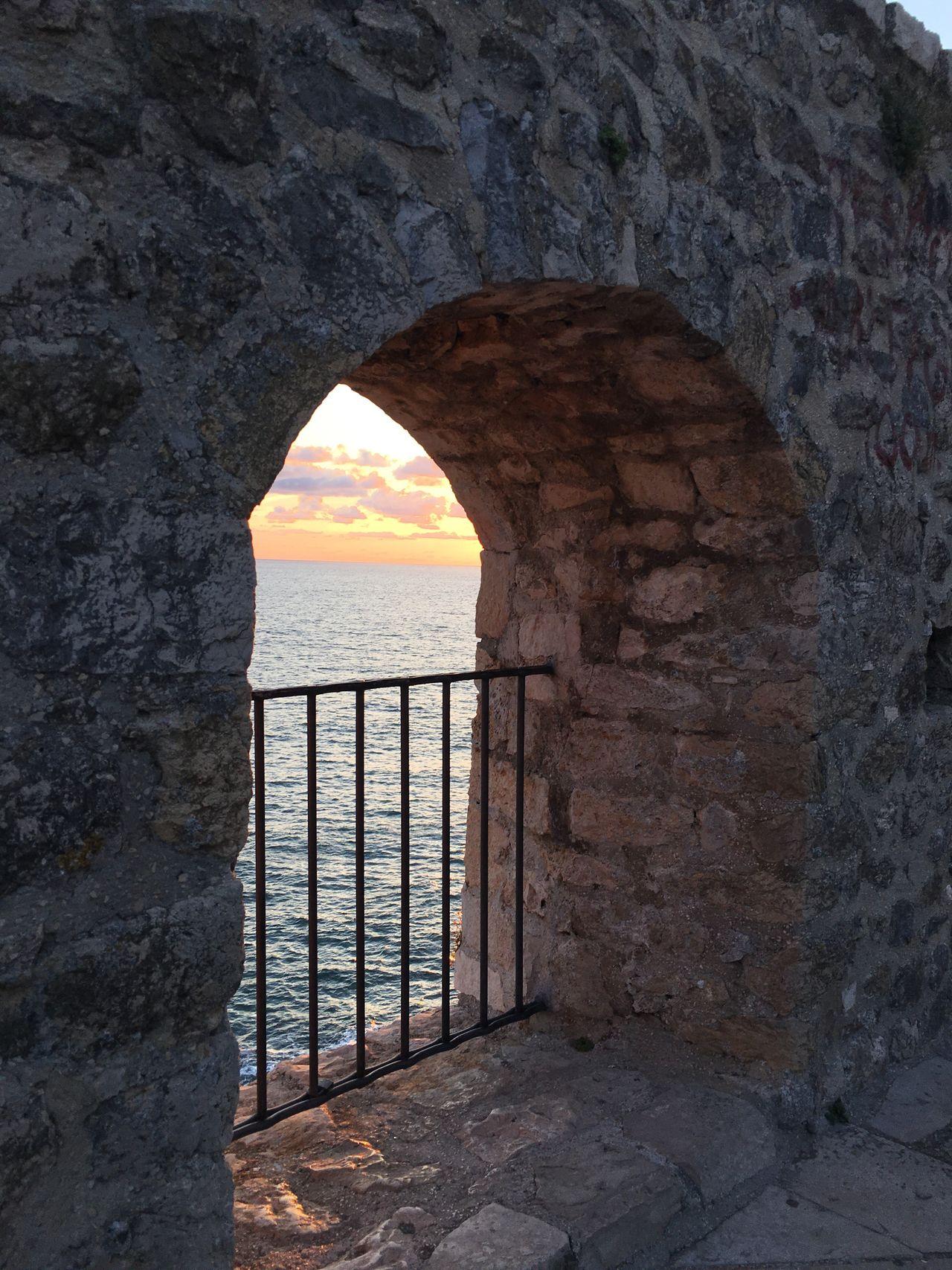 Montenegro Ulcinj Sunset Arch View Ocean View Ocean Sunset