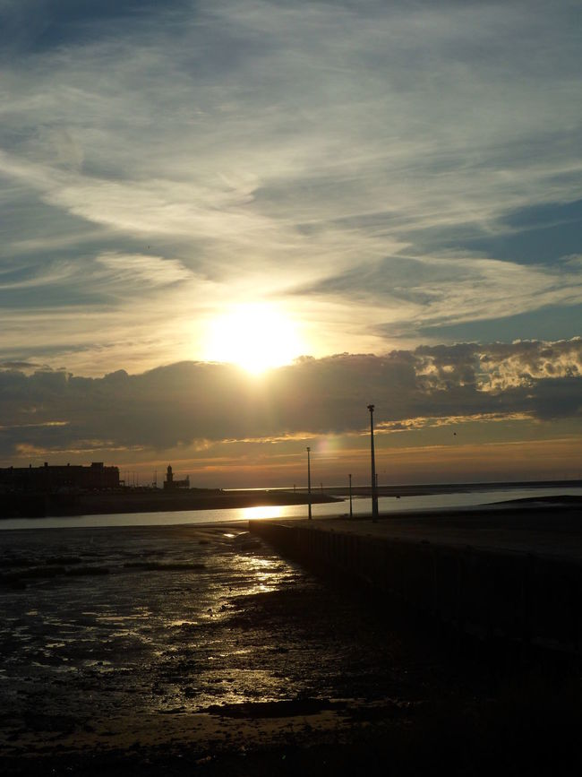 Sun down. Estuary. Evening. Skyscape. Yellow. Colour. Diminishing Perspective Estuary No People Outdoors Scenics Sky Slipway. Sun Sunset Tranquil Scene Tranquility View Across Water. Water