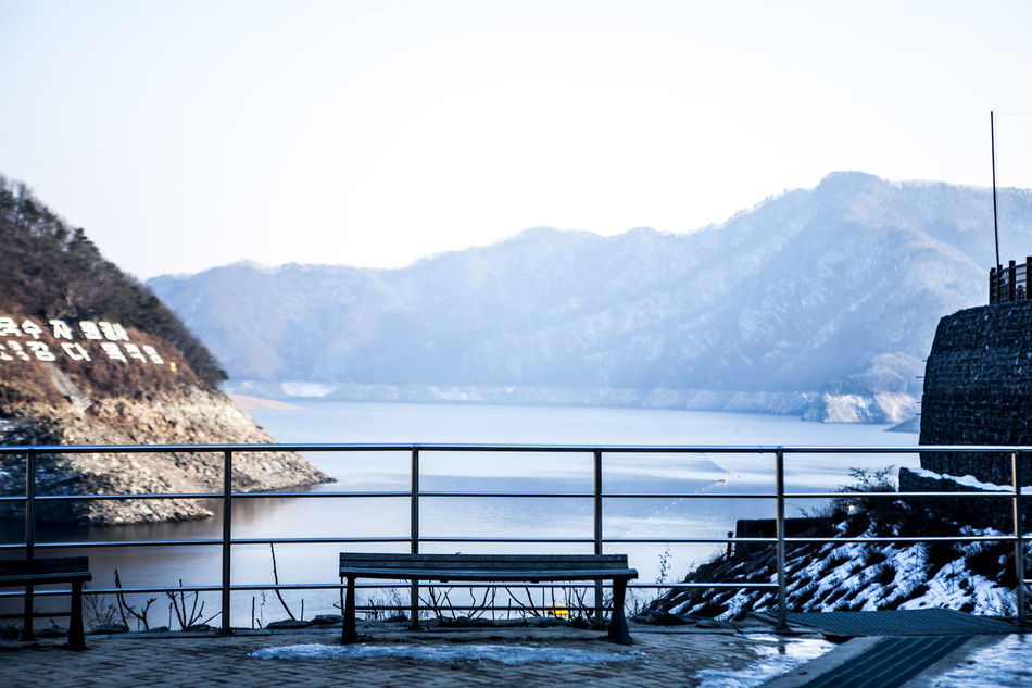 Beautiful stock photos of north korea, Beauty In Nature, Bench, Bridge - Man Made Structure, Chuncheon