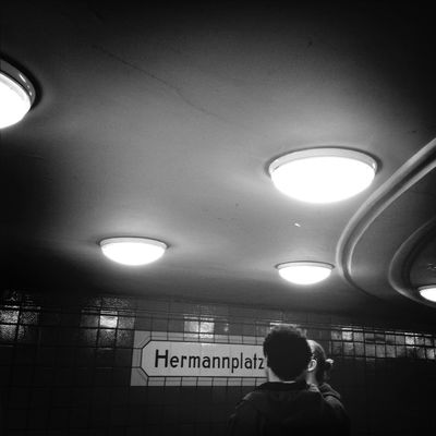 ubahn at U-Bhf Hermannplatz by MiLewicz