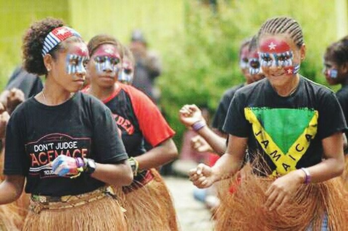 West Papua Want To Free Of Indonesia Colonial. West Papua Tradition Uniform Of West Papua Tradition Countrylife Patriotism West Papua Women West Papua Girl West Papua Culture West Papua Politic Of Freedom Papua Free Of Indonesia Colonial West Papua People Traditional Clothing Lifestyles Arts Culture And Entertainment West Papua Flag Social Issues Young Women Large Group Of People Celebration Friendship Women