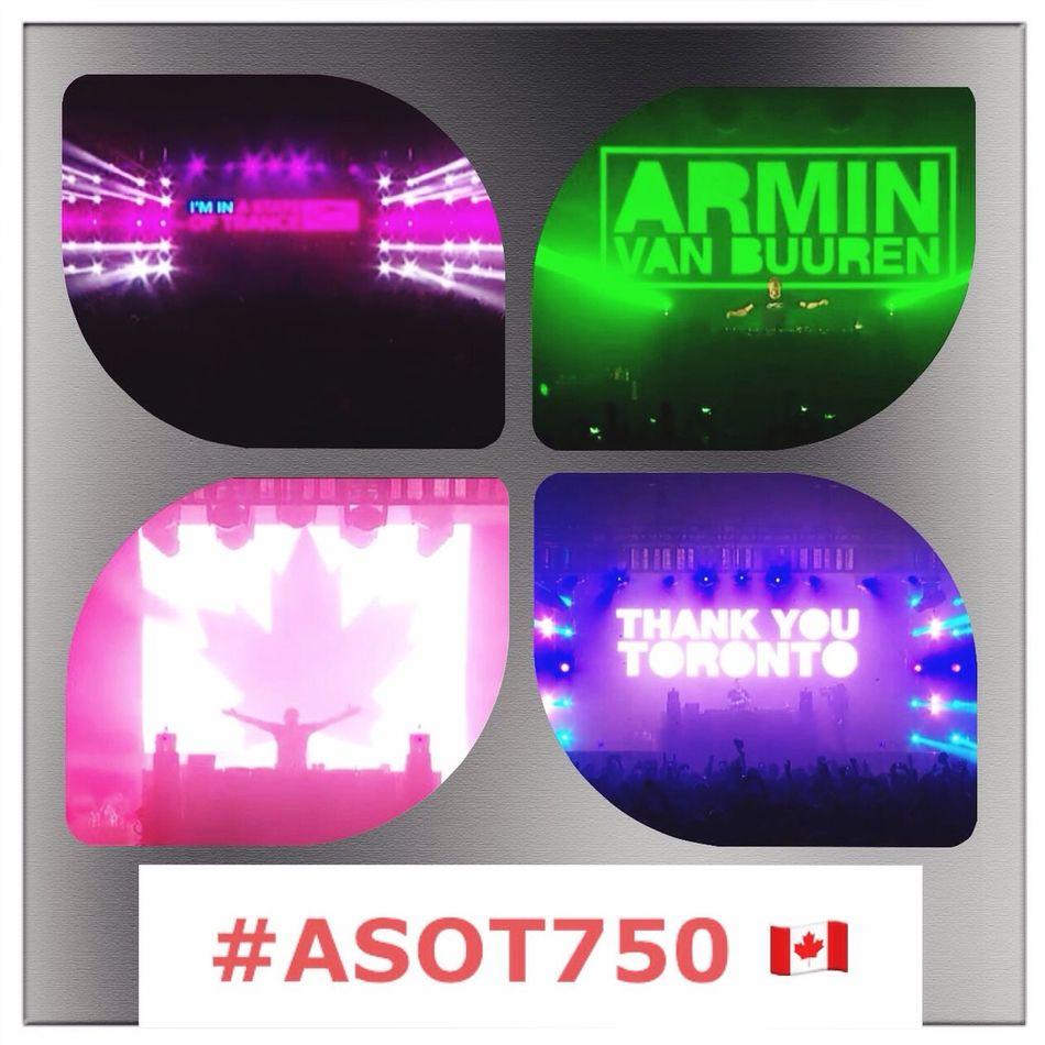 I'M IN A State Of Trance Toronto ♬ ♥ 🇨🇦 ♥ ♬ Thank You God of Trance Armin Van Buuren ☝️ ASOT750 ❤️