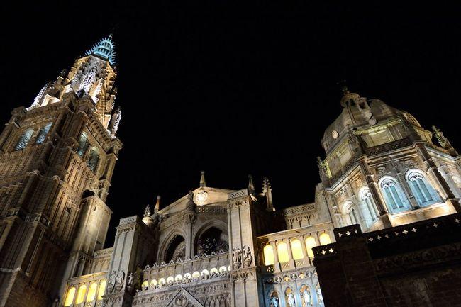 Cities At Night Toledo Spain Mision  Misiones Chatedral Chatedral of Toledo (Spain)