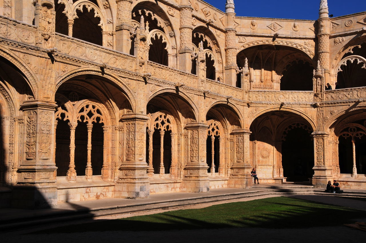 cloister Arch Architectural Column Architecture Building Exterior Built Structure Cloister Day History Monastero Dos Jeronimos No People Outdoors Travel Destinations