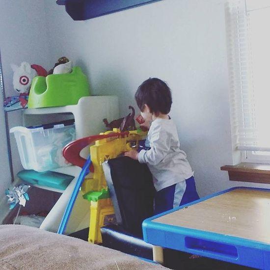 Go dino go! Dino Racetrack Race Boy Boymom Love