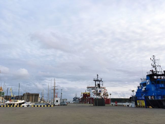 The port Port Ferry Baltic Coast Baltic Sea