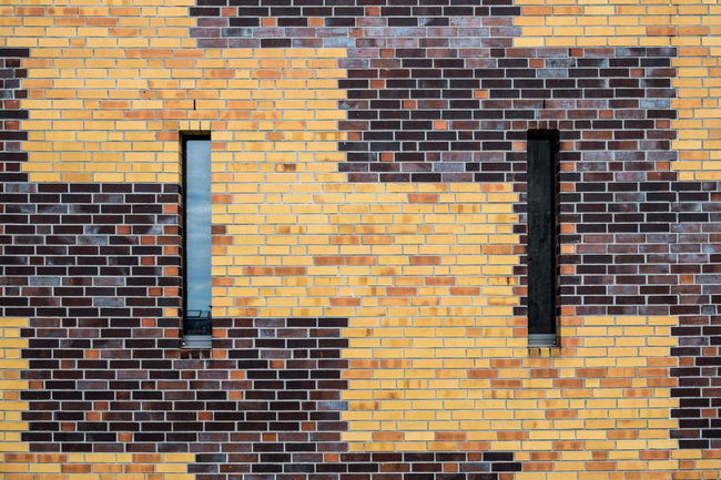 Brickwall Architectural Detail Architectural Feature Architecture Backgrounds Brick Wall Building Exterior Built Structure Cityexplorer Minimal Minimalism Minimalistic No People Outdoors Pattern, Texture, Shape And Form Simplicity Surface Texture Surfaces And Textures Urban Geometry Urban Landscape Windows