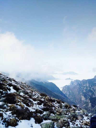 太白山 Snow Cold Temperature Outdoors Sky First Eyeem Photo