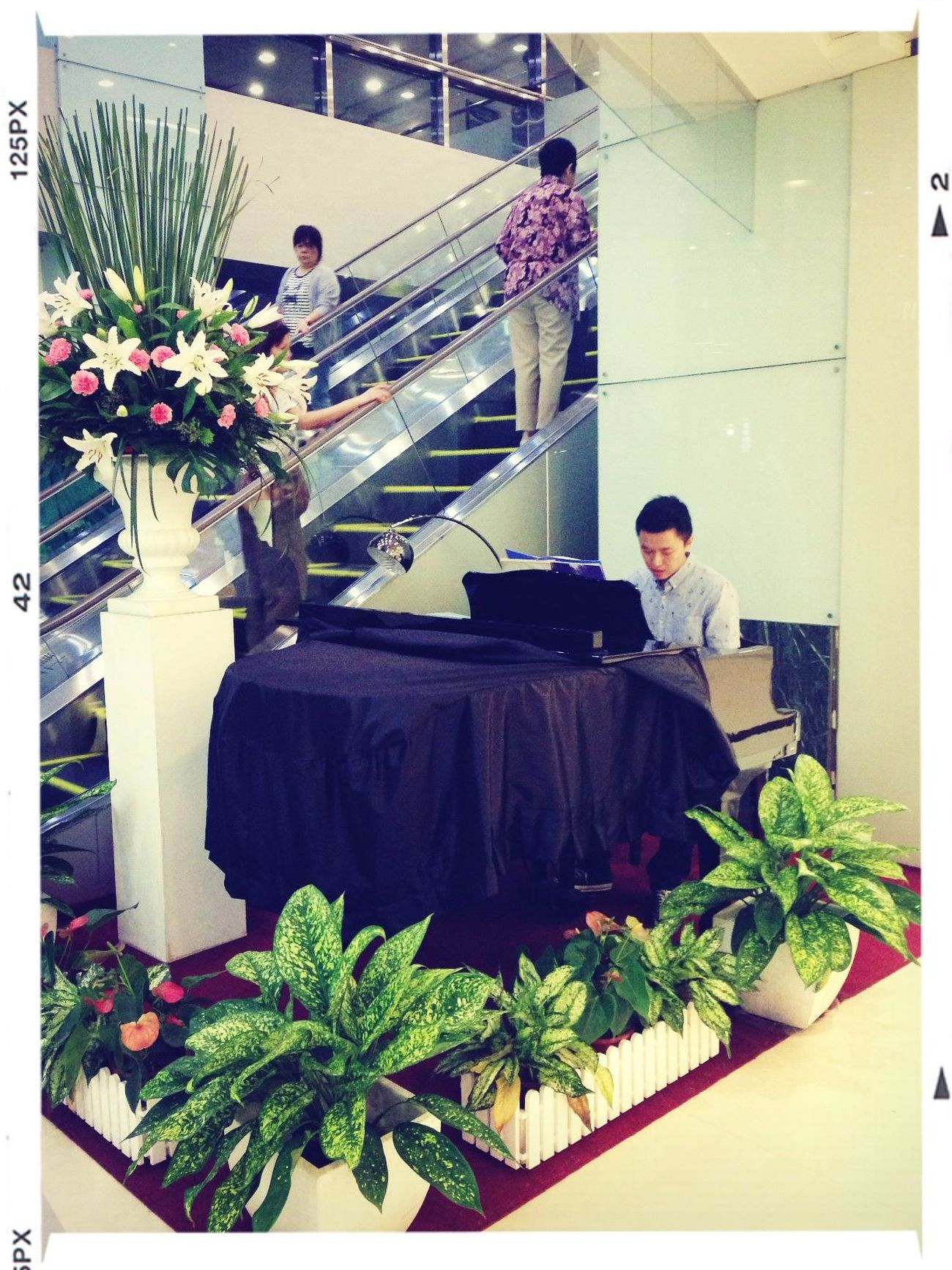 今天的小小志工:) Volunteer Playing Piano Enjoying Life