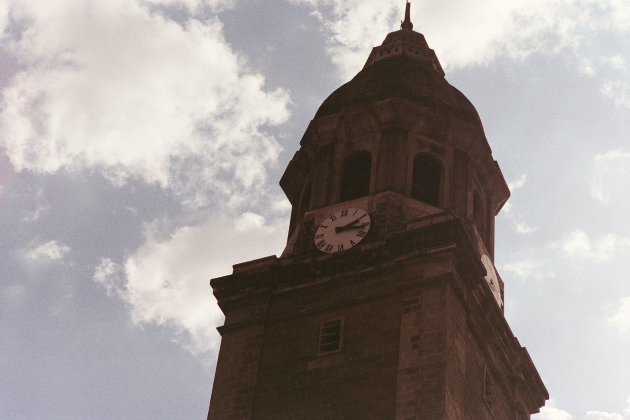 Archaic Manila Cathedral Intramuros Manila Philippines Walled City Architecture Cloud - Sky Religion Sky Outdoors Belfry Film Photography 35mm Film Film Phoptography Photowalk Film Is Not Dead Unedited Unfiltered Olympus Om1 Old Manila