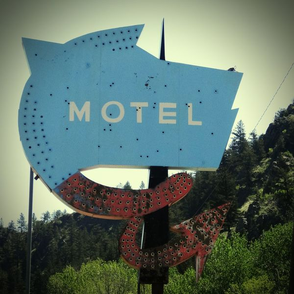 Old Sign Motel Sign Wolf Creek Montana